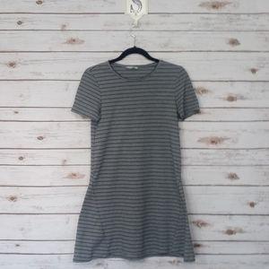 Zara/Trafaluc Grey & Black Dress Size: M
